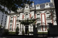 Palazzo di Unzué di lzaga del  di à Immagini Stock Libere da Diritti