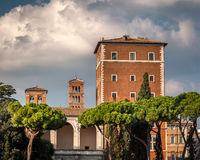 Palazzo di Venezia and Typical Rome Skyline, Rome, Italy Stock Image