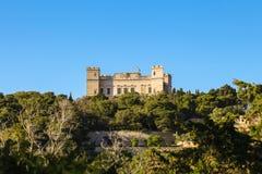 Palazzo di Verdala, giardini di Buskett, Malta fotografia stock