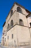 Palazzo di Vitelleschi. Tarquinia. Il Lazio. L'Italia. Immagini Stock