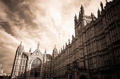 Palazzo di Westminster - città di Londra Fotografie Stock Libere da Diritti