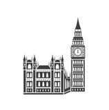 Palazzo di Westminster e grande Ben Illustrazione Vettoriale