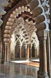 Palazzo di Zaragosa AljaferÃa Fotografia Stock