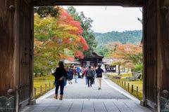 Palazzo dorato di Kinkakuji del portone anteriore Fotografia Stock Libera da Diritti