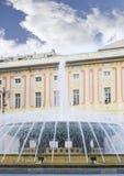 Palazzo Ducal e la fontana Fotografie Stock