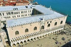 Palazzo Ducale在威尼斯,意大利 库存照片