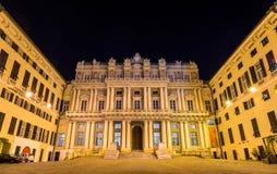 Palazzo Ducale看法在热那亚 免版税图库摄影