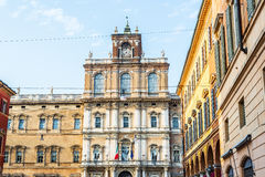 Palazzo Ducale στην πλατεία Ρώμη της Μοντένας Ιταλία Στοκ φωτογραφίες με δικαίωμα ελεύθερης χρήσης