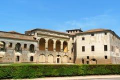Palazzo Ducale (公爵的宫殿)在曼托瓦,意大利 库存照片