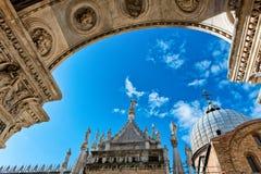 Palazzo Ducale (het Paleis van de Doge) in Venetië, Italië stock afbeelding