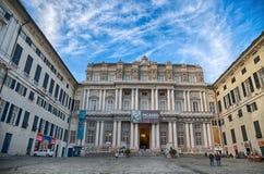 Palazzo Ducale in het stadscentrum van Genua, Italië stock afbeelding