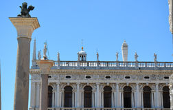 Palazzo Ducale i świętego Mark kolumna w Wenecja, Włochy zdjęcia stock