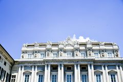 Palazzo Ducale i Genua, Italien royaltyfri fotografi