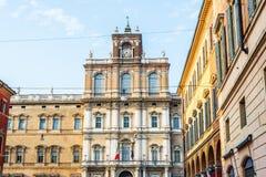 Palazzo Ducale i piazza Roma av Modena italy royaltyfria foton