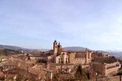 "Palazzo Ducale i Urbino †""Italien Arkivfoton"