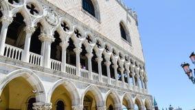 Palazzo Ducale i Venedig, Italien arkivbild