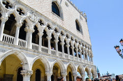 Palazzo Ducale i Venedig, Italien royaltyfri foto