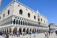Palazzo Ducale i Venedig, Italien arkivfoto