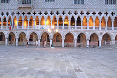 Palazzo Ducale at night,Doges palace, Venice, Veneto, Venetia, I Stock Photo