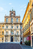 Palazzo Ducale in Piazza Rome van Modena Italië Stock Afbeeldingen