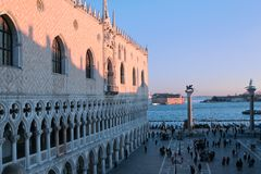 Palazzo Ducale, sunset, Venice Stock Photography