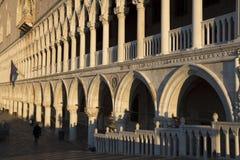 Palazzo Ducale Venecia en sol de la mañana Imagen de archivo