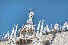 palazzo Ducale, Venetië, het Italië-Sluiten omhoog stock foto's