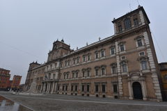 Palazzo Ducale view, Roma square, Modena, Italy Stock Photography