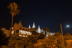 Palazzo e cattedrale reali di Almudaina in Palma de Mallorca, Balear Immagini Stock Libere da Diritti