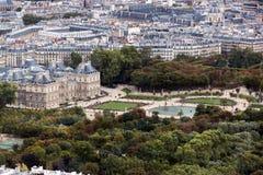 Palazzo e giardini del Lussemburgo Fotografia Stock