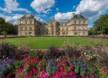 Palazzo e giardino del Lussemburgo Fotografia Stock Libera da Diritti