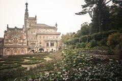 Palazzo e giardino di Buçaco Fotografia Stock Libera da Diritti
