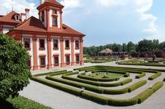 Palazzo e giardino di Troja Fotografia Stock Libera da Diritti
