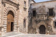 Palazzo episcopale situato in plaza Santa Maria, façade principale, Ren fotografie stock libere da diritti