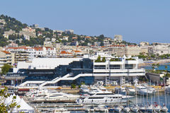 Palazzo famoso del cinematografo con il casinò, Cannes, Francia Fotografia Stock