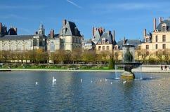 Palazzo famoso di Fontainebleau fotografia stock