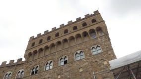 Palazzo famoso Vecchio en Florencia - el palacio de Vecchio en el centro de ciudad histórico - Toscana almacen de metraje de vídeo