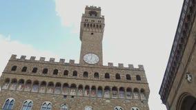 Palazzo famoso Vecchio en Florencia - el palacio de Vecchio en el centro de ciudad histórico - Toscana metrajes