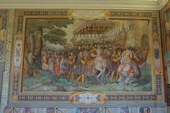 Palazzo Farnese, Farnese行为室  库存图片