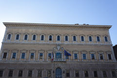 Palazzo Farnese -罗马 库存照片