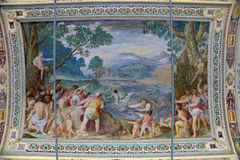 Palazzo Farnese - Loggia of Hercules, frescoes of Federico Zuccari Royalty Free Stock Photos