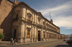 Palazzo federale antico di Morelia fotografia stock libera da diritti