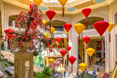 The Palazzo floating lanterns Royalty Free Stock Photos