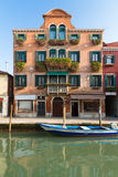 Palazzo with flowers, Venice, Italy Royalty Free Stock Photography
