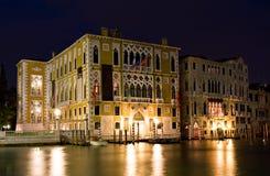 Palazzo Franchetti Cavallo at night stock images