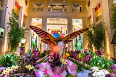 The Palazzo, giant butterfly display Stock Photo