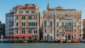 Palazzo Giustinian on the Grand Canal timelapse, Venice, Italy stock video footage