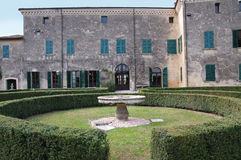 Palazzo Gonzaga in Volta Mantovana, Italy. Palazzo Gonzaga-Guerrieri seat of the town council  in Volta Mantovana, Italy Stock Image