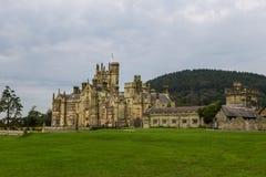 Palazzo gotico del castello di Margam fotografie stock libere da diritti