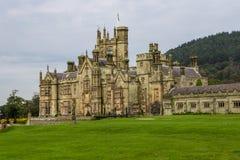 Palazzo gotico del castello di Margam Fotografie Stock